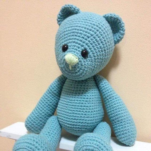 First amigurumi teddy bear made for my son a couple of years back.  #crochettedd…