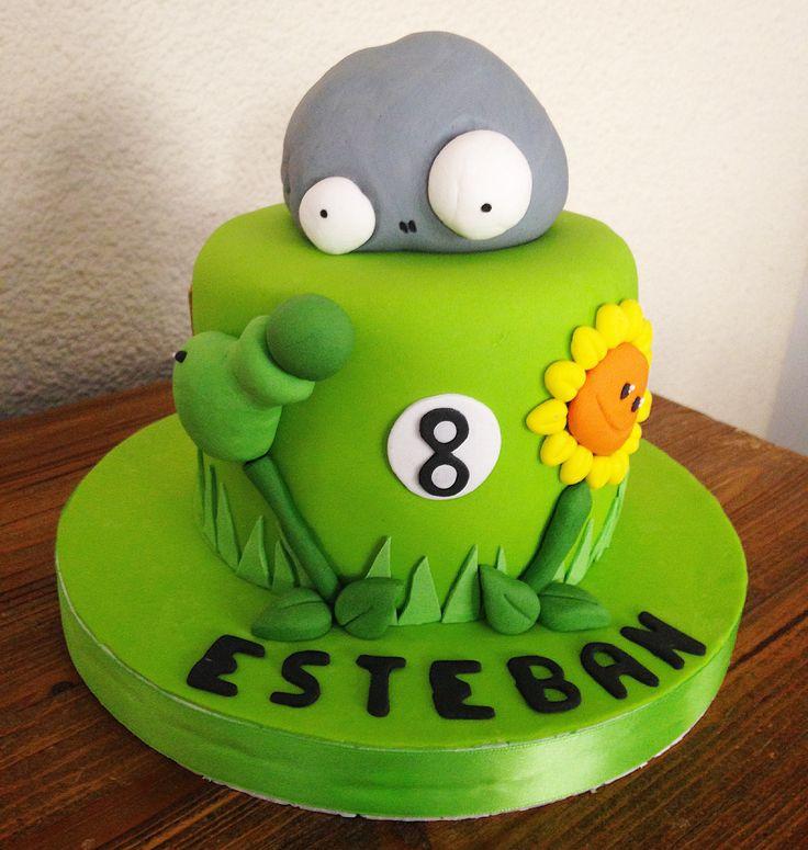Plants vrs Zombies Cake