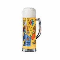 Ritzenhoff - Seidel  Boccale birra decorato, confezionato singolarmente con 4 sottobicchieri che riprendono lo stesso decoro