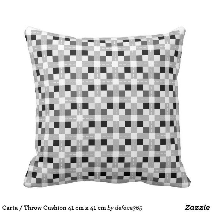 Carta / Throw Cushion 41 cm x 41 cm