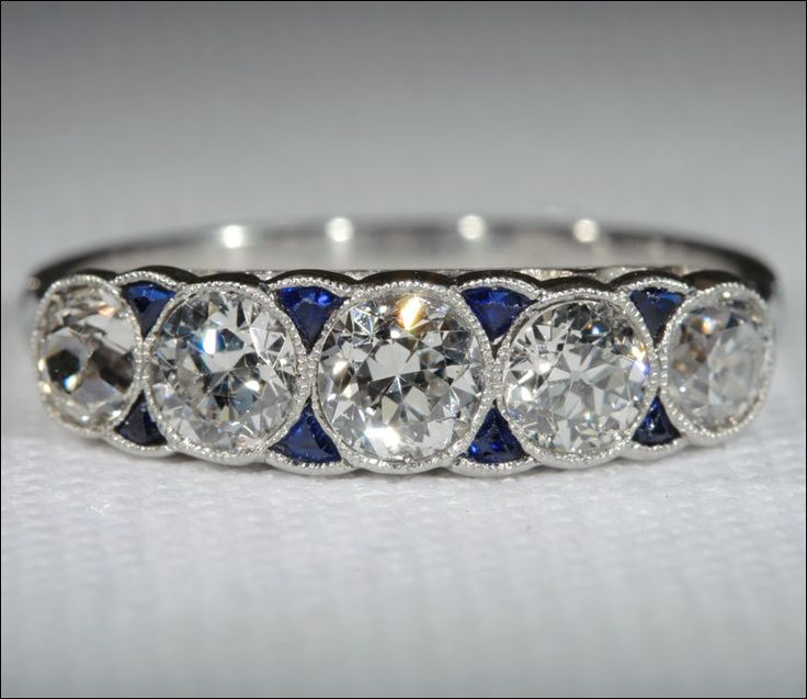 Lovely: Sapphire Rings, Eternity Band, Wedding Bands, Engagement Ring, Art Deco, Vintage Art