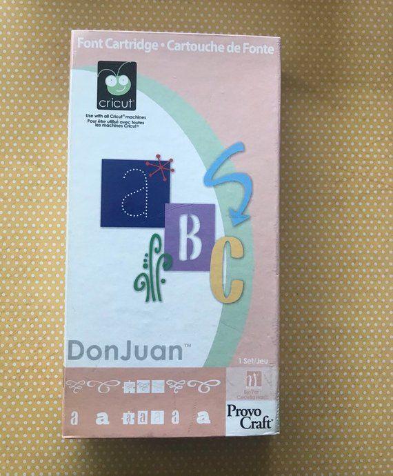 Cricut Don Juan Cartridge Linked Used Destash Letters And Etsy Cricut Cartridges Cricut Cricut Expression