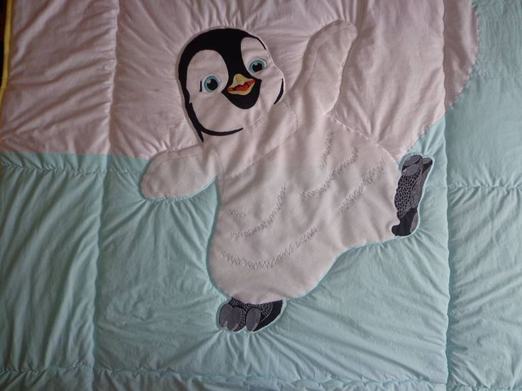 Happy feet - quiltted bedspread