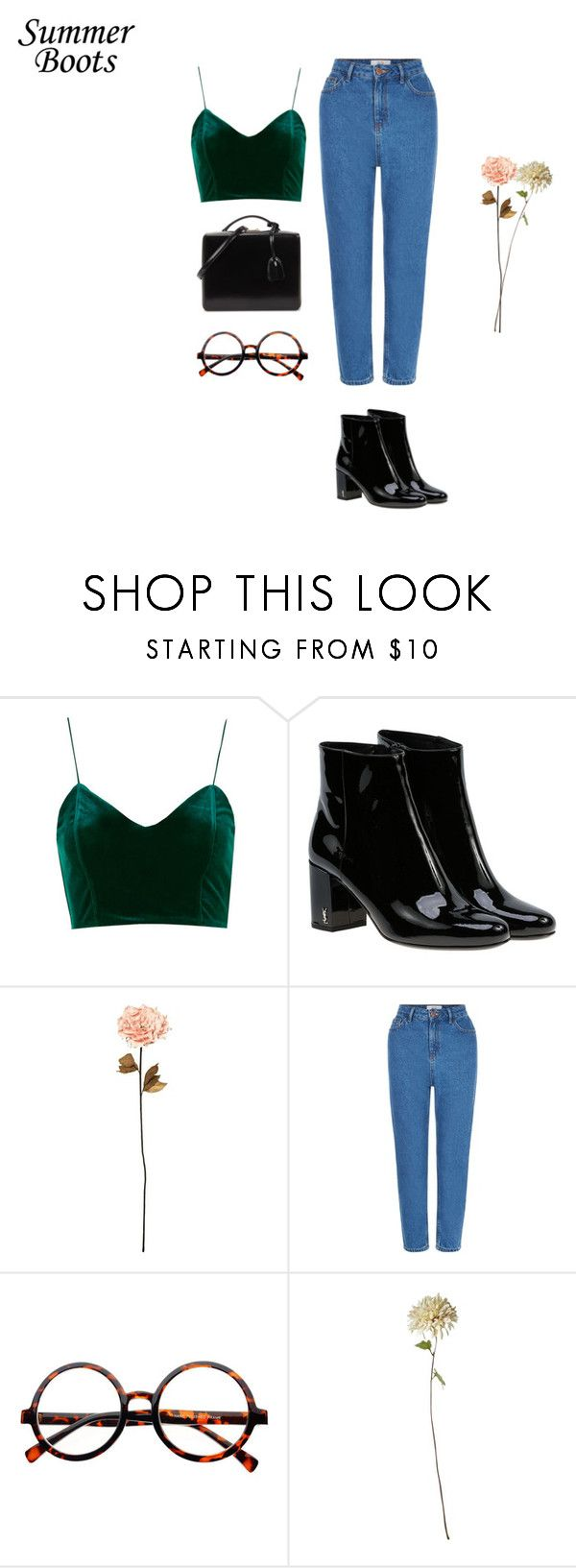 """slow motion"" by xoxotiffvni on Polyvore featuring Yves Saint Laurent, Shabby Chic, New Look, Retrò, Mark Cross and summerboots"