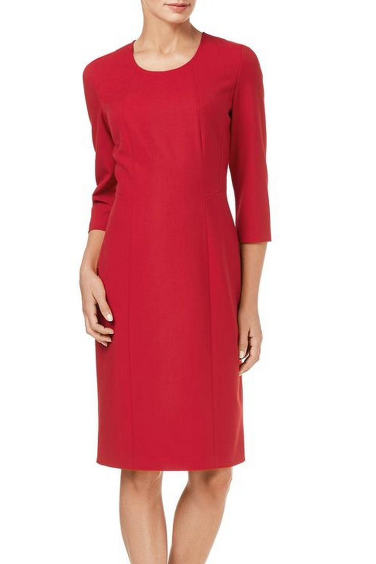 #GerryWeber chique jurk #fashion #colortrends #trends #pantone #Aurorared #red