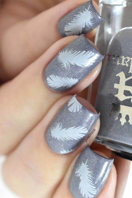 Nailstorming - Feather nails - feather water decals - A England Wuthering Heights