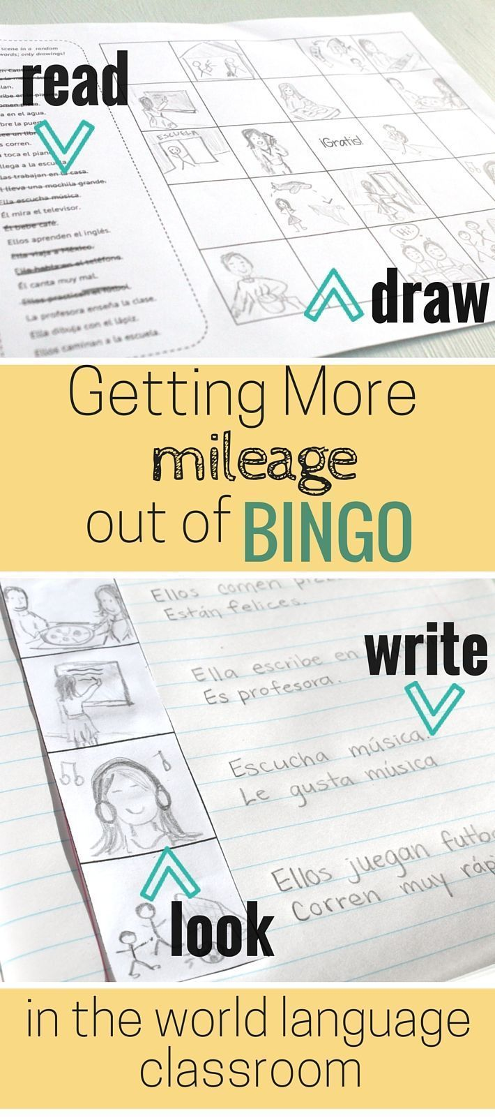 Bingo in the World Language Classroom. Ideas for using this classic game for reading, listening, and writing activities.