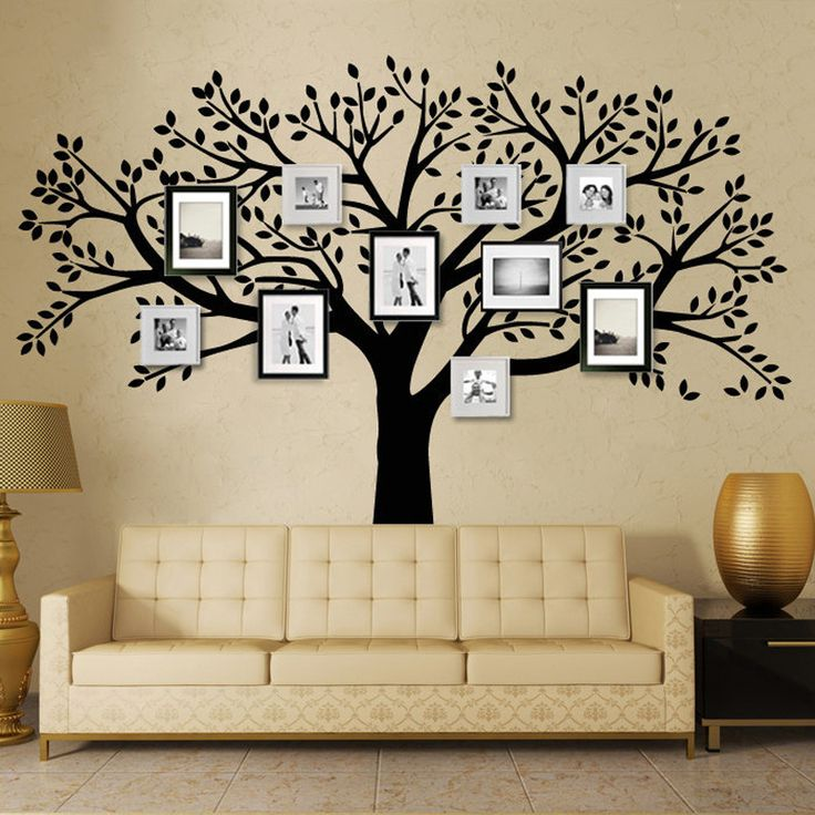 MCTUM Brand Family Tree Wall Decals Vinyl Wall Decal Photo Frame Tree Stickers Living Room Home Decor Wall Sticker