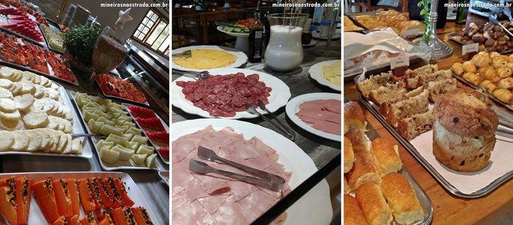Café da manhã do Monreale Resort Hotel, em Poços de Caldas.