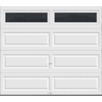 Premium Series Insulated Long Panel Garage Door with Long Windows