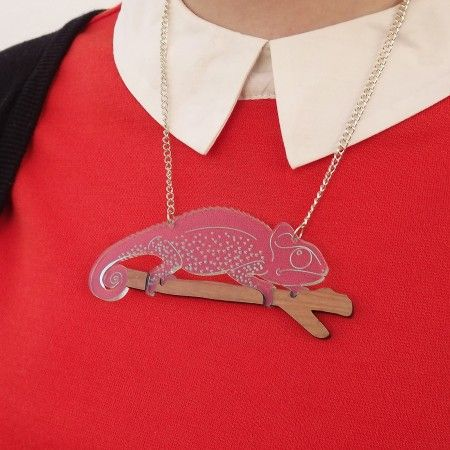 Chameleon Necklace... he goes with anything!