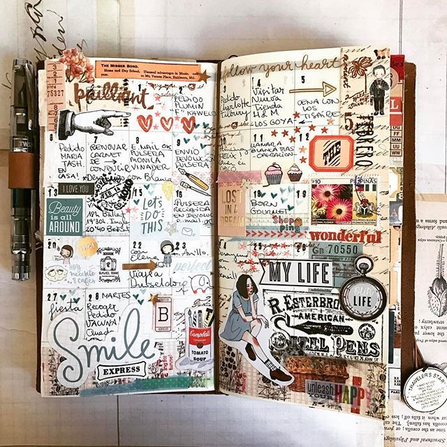 #february #febrero #planner #plannerlove #travelersnotebook #midori #midoritravelersnotebook #stamps #scrapbooking #stickers #caligraphy #ephemera #mailart #snailmail #letter #lettering #correobonito #collage #collageart