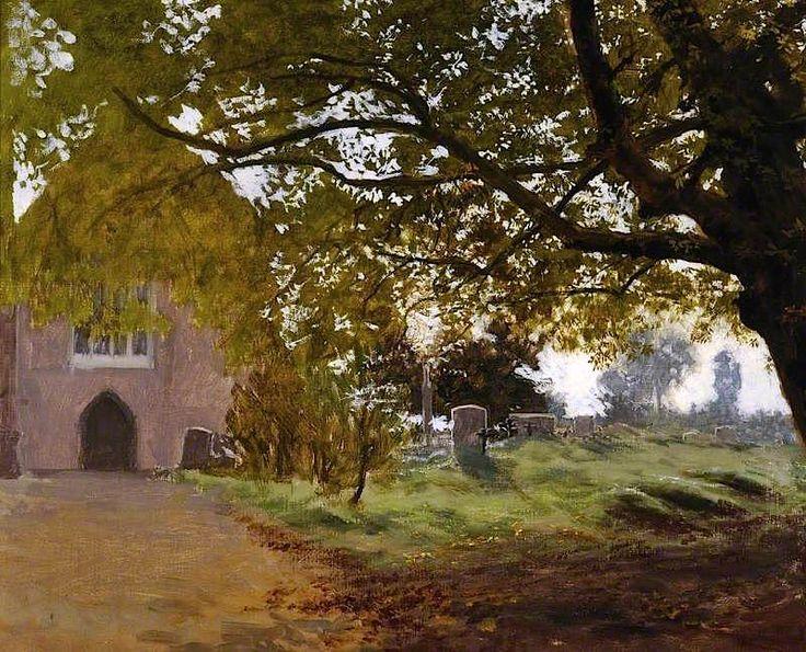 Churchyard, Dorchester Abbey, Oxfordshire Vicat