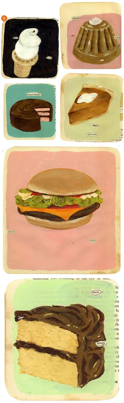 collection of food paintings by Martha rich via sfgirbybay
