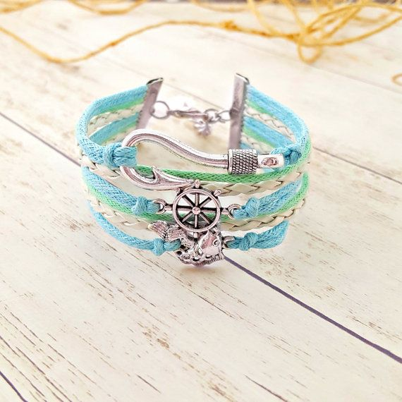 Hey, I found this really awesome Etsy listing at https://www.etsy.com/listing/236741645/fish-bracelet-fish-hook-bracelet-ship