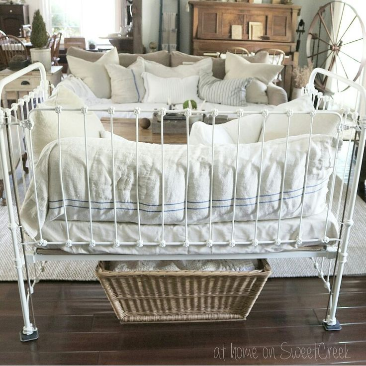 Antique Crib  - Farmhouse Style  at home on SweetCreek