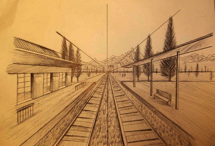 Artes ii perspectiva for Exterior un punto de fuga