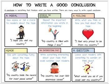 009 Editable Handout/Poster How to Write a Good Conclusion