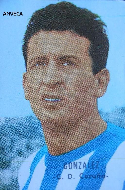 GONZALEZ (R.C.D. La Coruña - 1966-67) Ed. Fher
