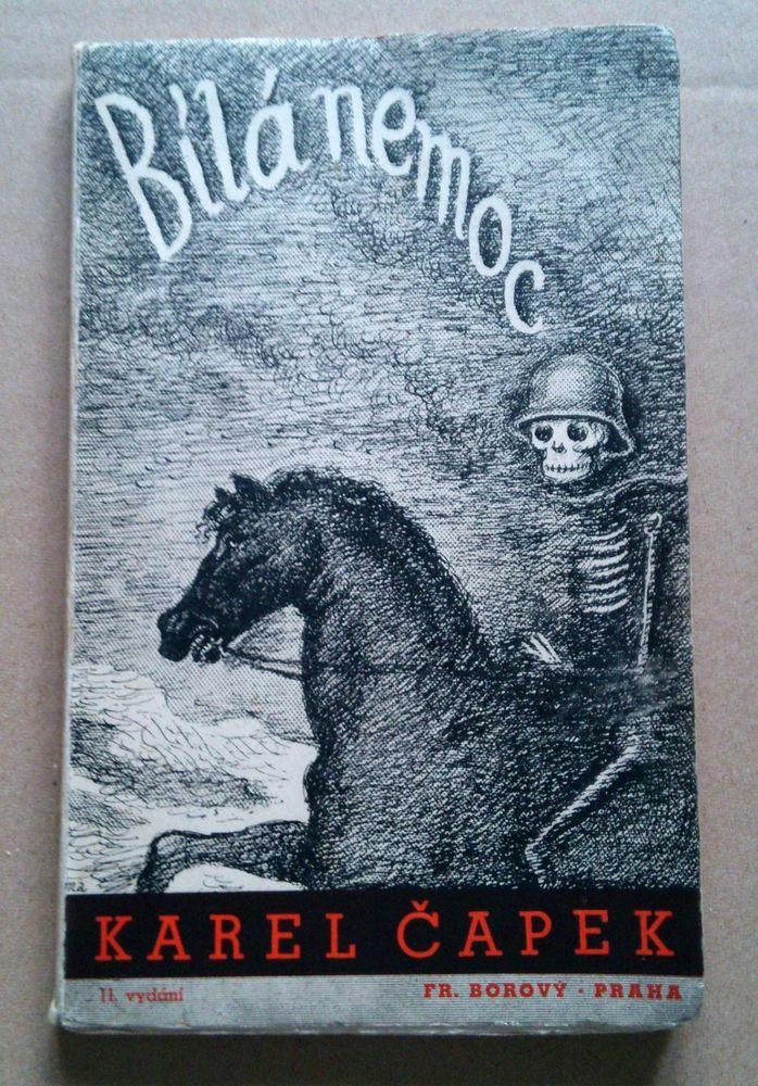 Czech avant-garde cover Otakar MRKVICKA 1948 BILA NEMOC Karel Capek