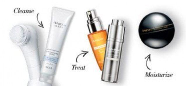 Cleanse Treat & Moisturize. Introduce Avon ANEW pr… Cleanse Treat ...