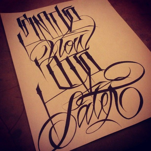 The 25+ Best Gangster Letters Ideas On Pinterest