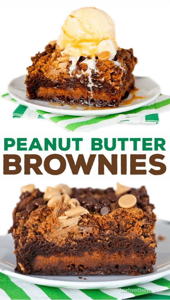 Browines stuffed with Reese's Peanut Butter Bars and topped with the most amazing peanut butter chocolate crunch topping!