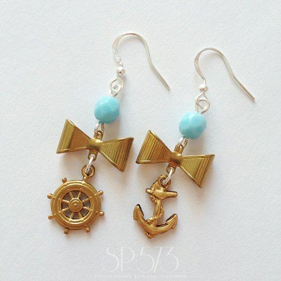 Rockabilly Sailor Earrings Vintage Jewelry Romantic Retrò by sp573