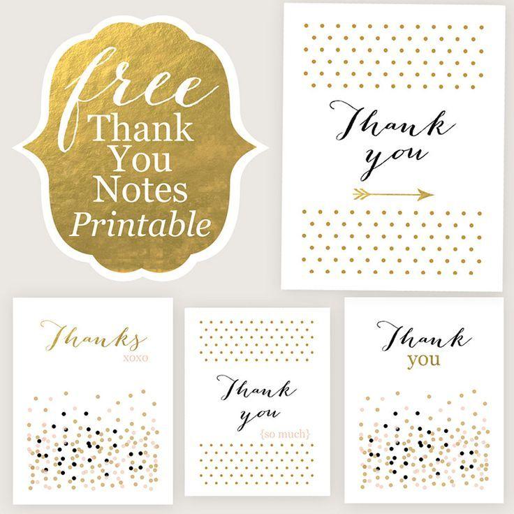 FREE PRINTABLE: Thank You Cards ~ on the #VeryJane Blog: