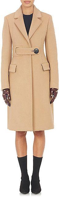 Balenciaga Belted Melton Coat - Mid - Barneys.com