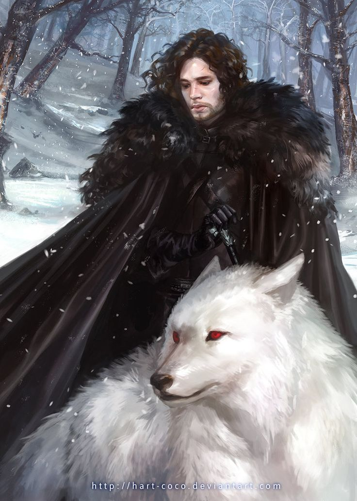Jon Snow and Ghost...