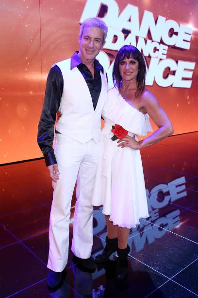 Gedeon Burkhard and Christine Neubauer during the 1st show of the television competition 'Dance Dance Dance' on July 12 2017 in Cologne Germany The...