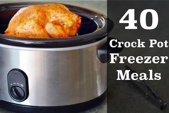 If you dread dinner time, you will want to take 1 hours and make 5 slow cooker freezer meals. This will save you so much time and money in the kitchen! Here are 40 slow cooker (crock pot) freezer meals with printable recipes and shopping lists! These are easy family friendly recipes!