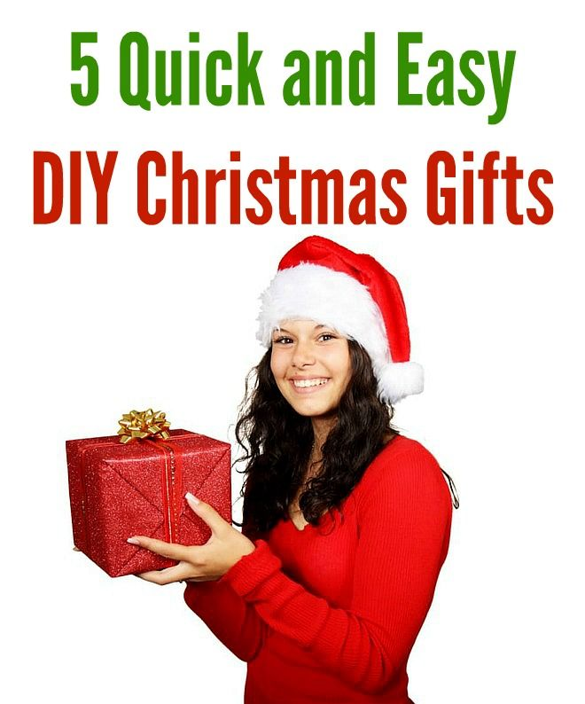 5 Quick and Easy DIY Christmas Gifts - Infographic