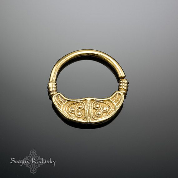 Gold Septum Ring  Septum-Schmuck  Gold Nase Ring  Schmuck