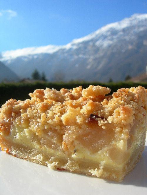 apple cobbler ou la tarte aux pommes crumblée à la normande