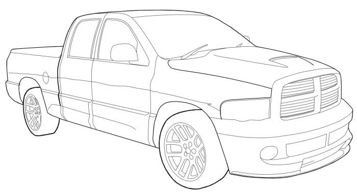 dodge ram srt 10 coloring page