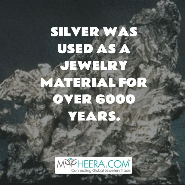 Silver was used a jewelry material for over 6000 years!! #myheera #silver # jewelry #history