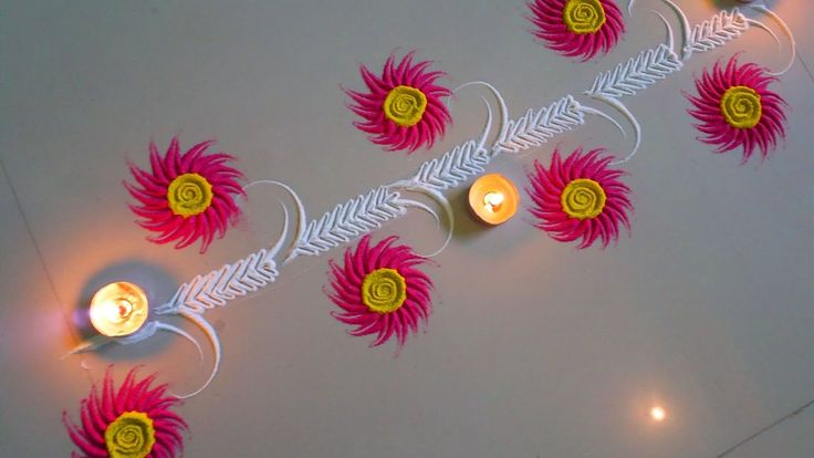 very easy Rangoli border make in two minute