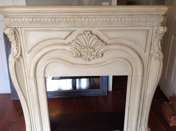Chalk painted big lots (yes. Big lots) electric fireplace                                                                                                                                                                                 More