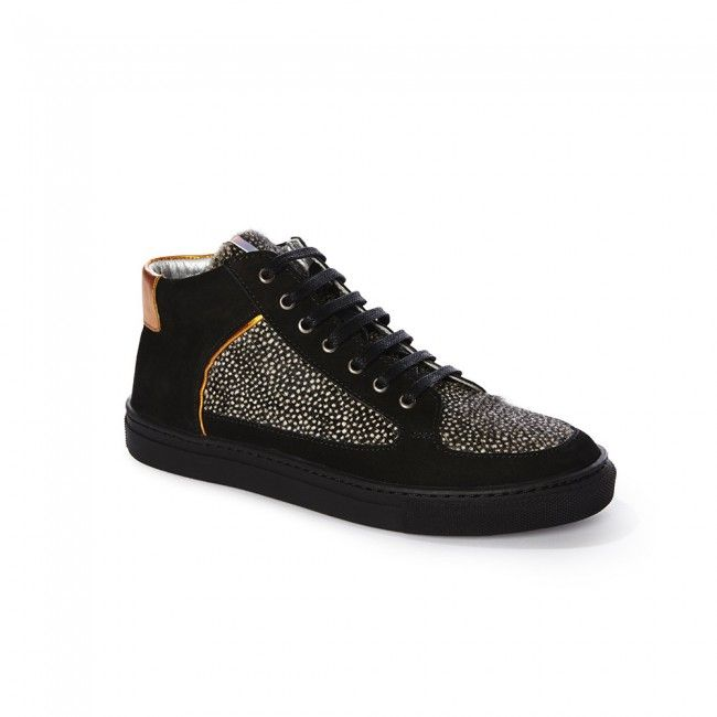 Black Womens Trainers > Snowstorm Simmy Mid-Top Sneakers at Rose Rankin