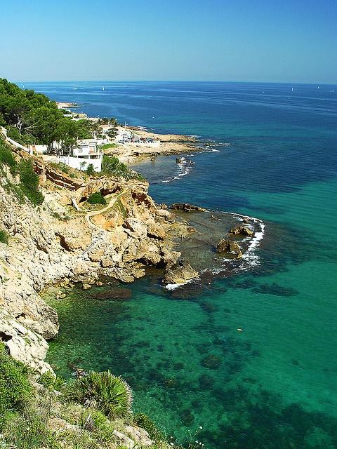 Mar en la costa de Dénia   Alicante