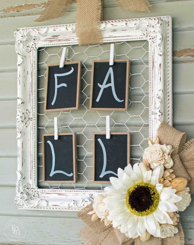 Love the chicken wire and frame idea