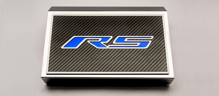 2016-2018 Camaro V6 RS | Fuse Box Cover ''RS Style'' REAL carbon fiber top plate. Installs easily over your factory fuse box.