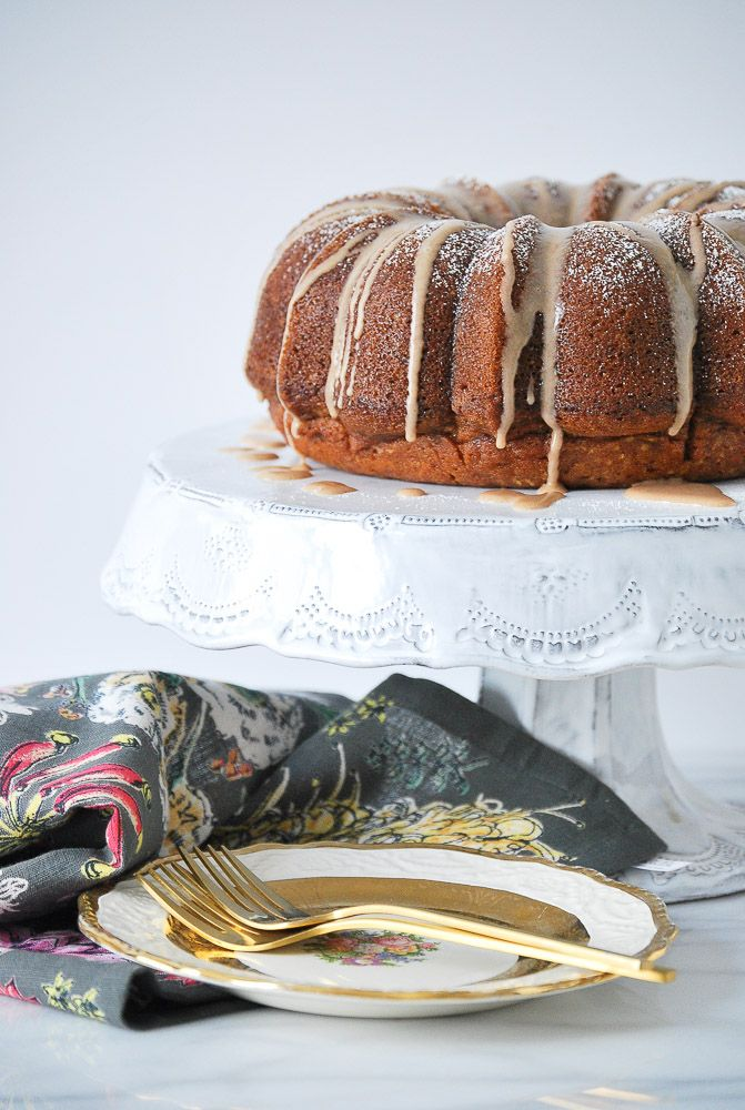 Pumpkin Cake with Vanilla Cinnamon Glaze