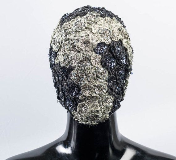 Silver Rose  - Custom Prototype Haute Couture Mask