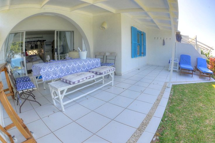 """27 Thira Santorini Self Catering Apartment In Chakas Rock, North Coast, KZN See more on https://goo.gl/kXzuJT  Come experience """"island style"""" all white luxury at 27 Thira Santorini, which perches on a cliff facing the Indian Ocean, offering magnificent uninterrupted sea views."""
