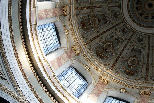 Interior of the cupola of the basilica in Esztergom