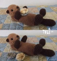 Amigurumi Otter! - I lived on a bayou as a child.  I always wanted an otter as a pet.  I was certain it could live in the bayou.