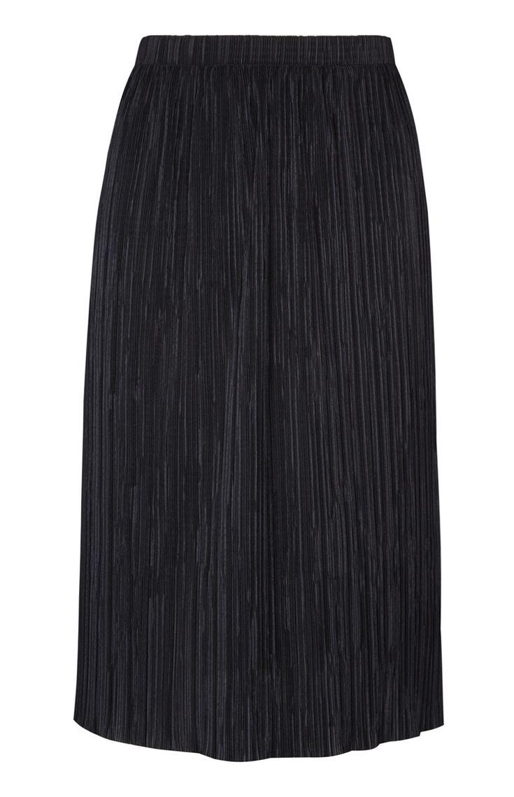Primark - Falda plisada negra 12e